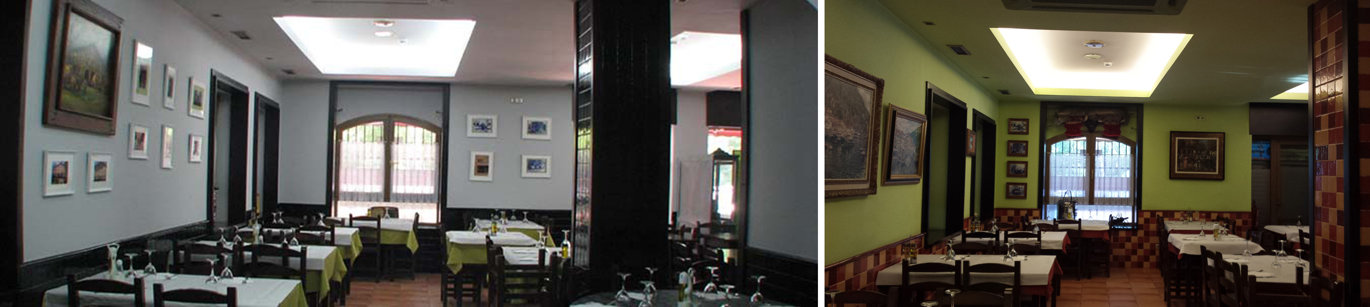 antes y despues restaurante