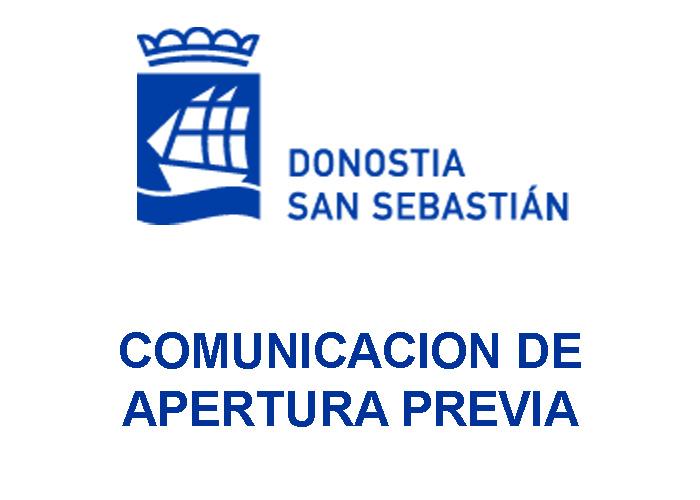 comunicacion previa apertura san sebastian