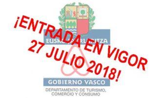 entrad vigor decreto vivienda turistica 2018 euskadi